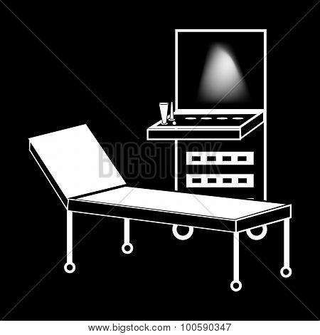 Ultrasound machine medical technology silhouette