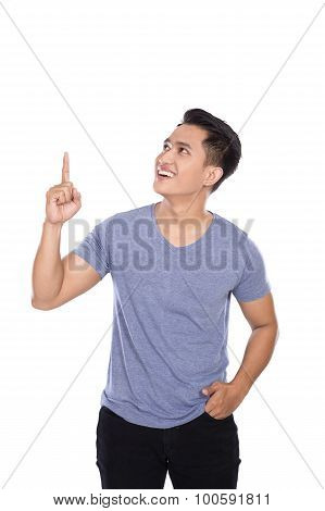 Young Asian Man Getting An Idea Hand Gesture