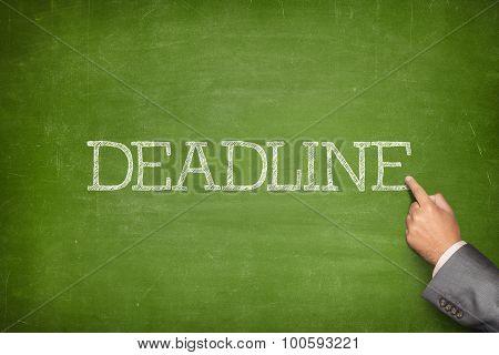 Deadline text on blackboard