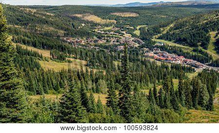 Birds eye view of Sun Peaks Village