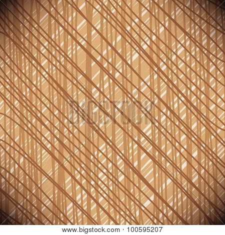 Modern Stylish Brown Texture, Repeating Abstract Background With Tangled Line