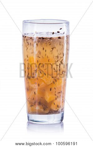 Infused Water Mix Of Orange And Fennel