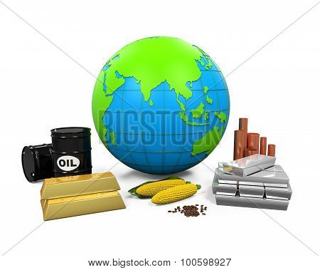 Commodities Item and Globe