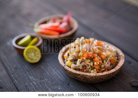 Sambal Matah, Bali Traditional Sauce. Indonesian Condement. Close Up