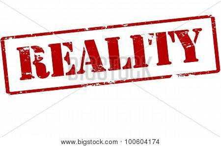 Rubber stamp with word reality inside vector illustration