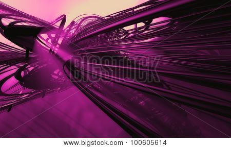 Pink abstract technology background