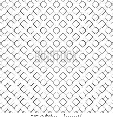 Structure of the mesh fence, seamless texture vector illustration