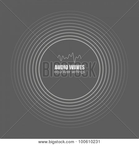 Cover for the album or music track. Sound waves . Audio equalizer technology, pulse musical. Vector illustration charts, graphs, analysis.