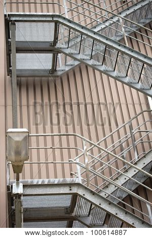 External staircase industrial building