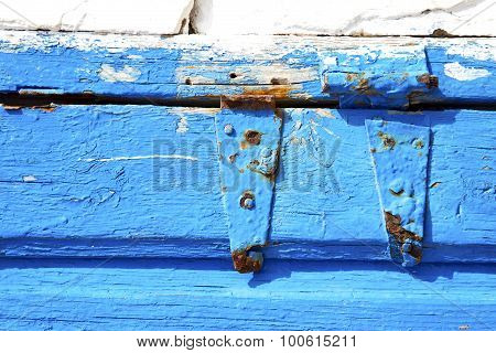 Blue  In Texture Wall And  Morocco  Abstract