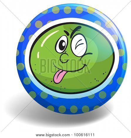 Fresh lime on blue badge