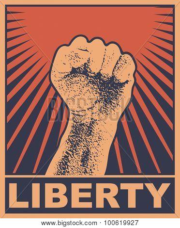 Liberty. Art concept. Vector illustration