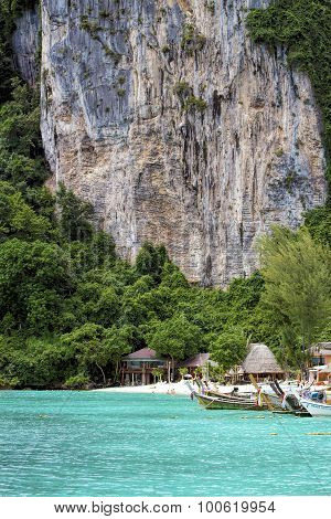 Phi Phi Don is the largest of the Phi Phi Islands in Thailand