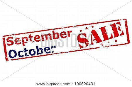 September Octomber Sale