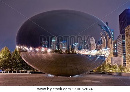 Cloud Gate At Night