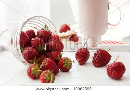 Milkshakes With Strawberries