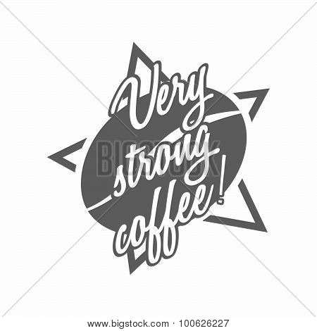 Coffee vector logo with