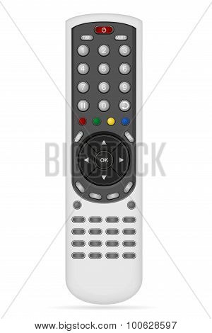 Remote Control For Audio Video Equipment Vector Illustration