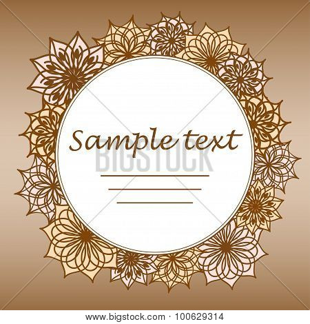 Flower Background With Space Of Your Text.