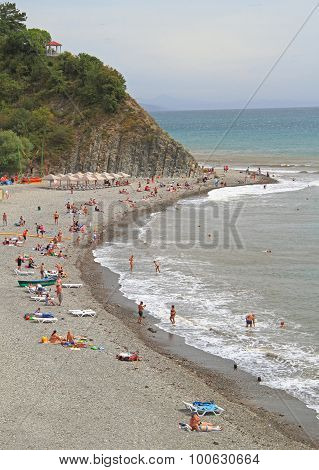 beach in khutor Betta, Krasnodar krai