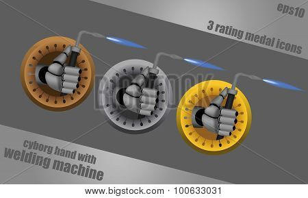Welding Cyborg Hands Icons