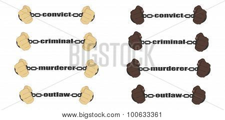 Convict,criminal,murderer, Outlaw Signs
