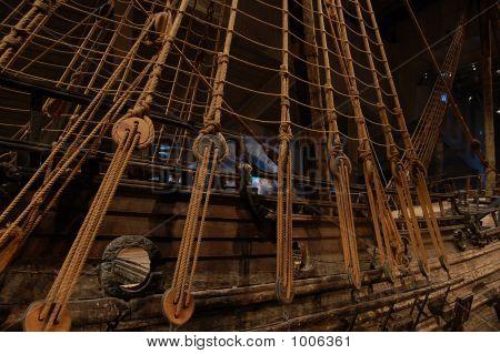 Ancient Ship At Vasa Museum, Stockholm, Sweden