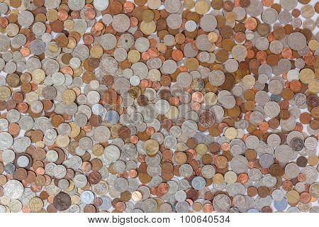 Money Coins Obsolete Collage