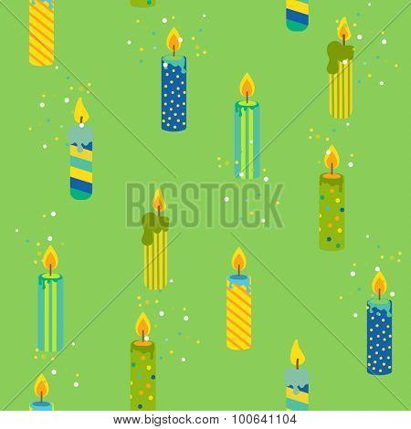 Baby Birthday Celebration Background - seamless pattern