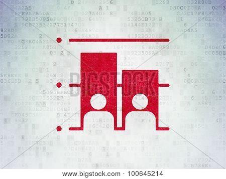 Politics concept: Election on Digital Paper background