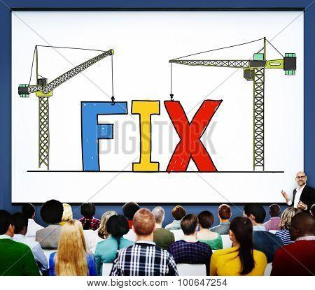 Fix Mechanical Repair Solution Technician Maintenance Concept