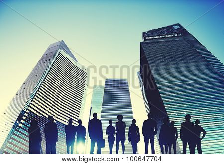 Business People Vision Strategy Aspiration Concept