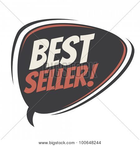 bestseller retro speech bubble