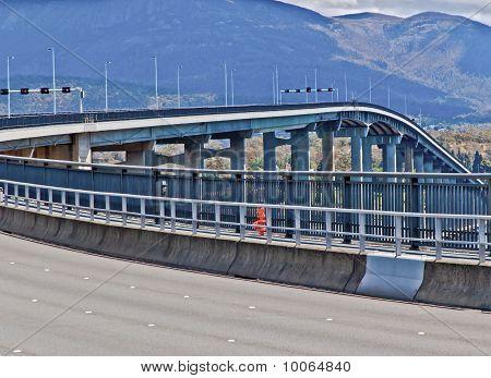 Bridge Across The Derwent River Hobart Australia
