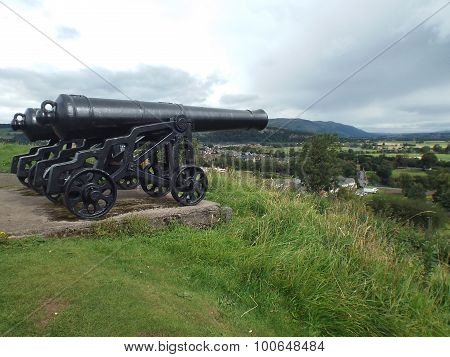 Cannons overlooking Stirling.
