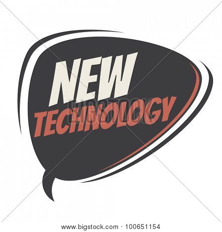 new technology retro speech balloon