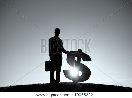Businessman Dollar Finance Currency Investment Concept