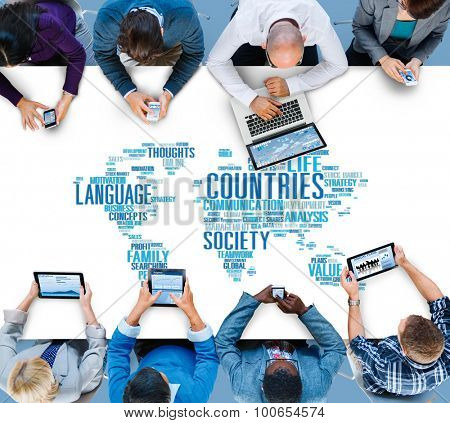 Countries Language Society Digital Device Concept