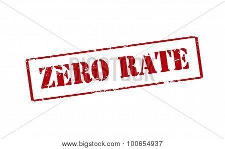 Zero Rate