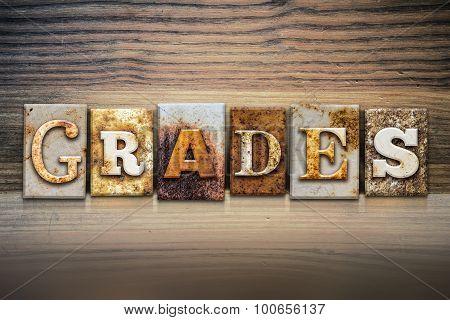 Grades Concept Letterpress Theme