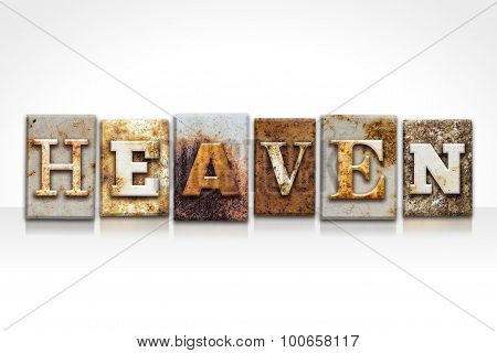 Heaven Letterpress Concept Isolated On White