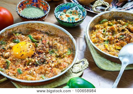 Turkish breakfast Menemen