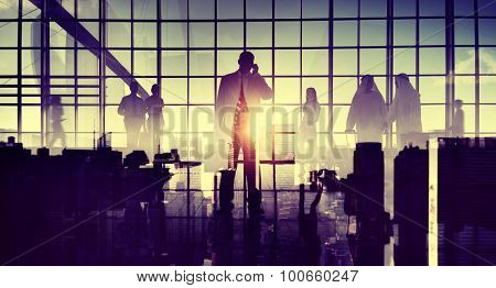 Business Travel Commuter Corporate Airport Terminal Concept
