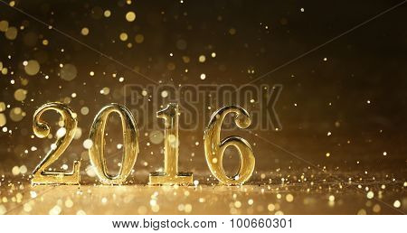 Golden 2016 for new year holidays