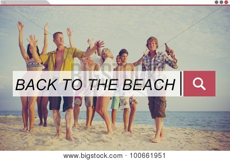 Back To The Beach Relaxation Tropical Beach Concept