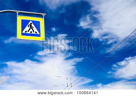 Road Sign And The Sky