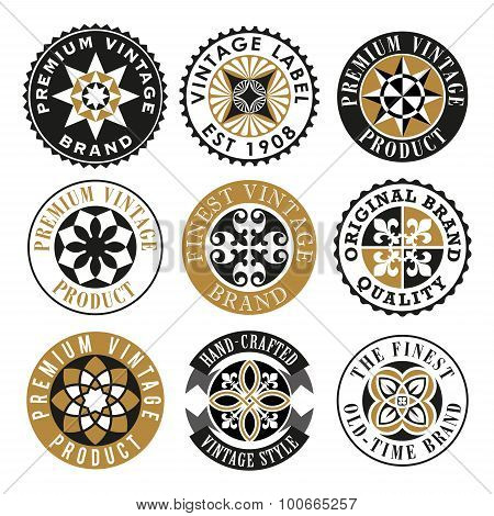 Ornamental Vintage Labels