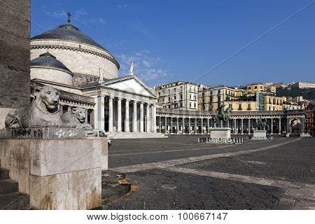 Church Of San Francesco Di Paola In Naples, Italy