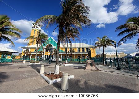 Colonial architecture in the capital Nassau Bahamas