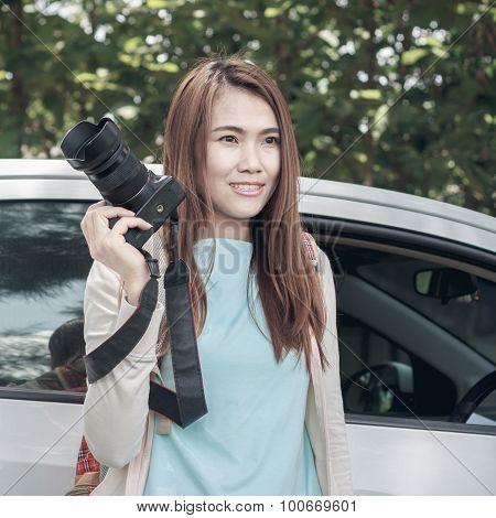 Woman And Camera.